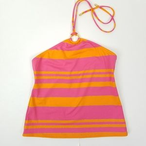 Michael Michael Kors Pink Orange Gold Halter Top